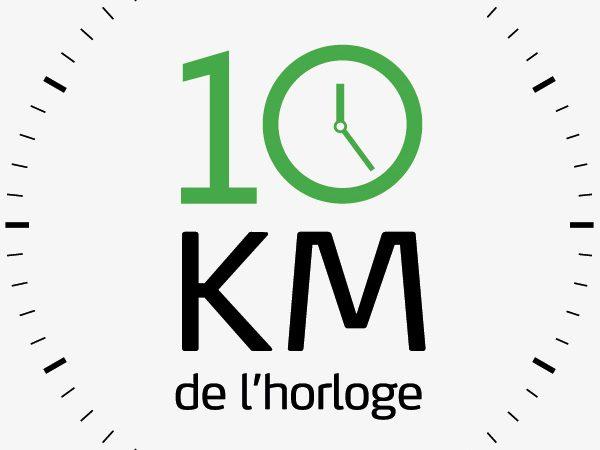 logo 10km horloge