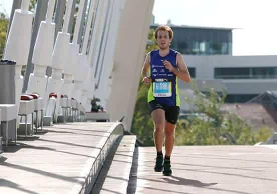 Lors du marathon de Lyon en 2h34