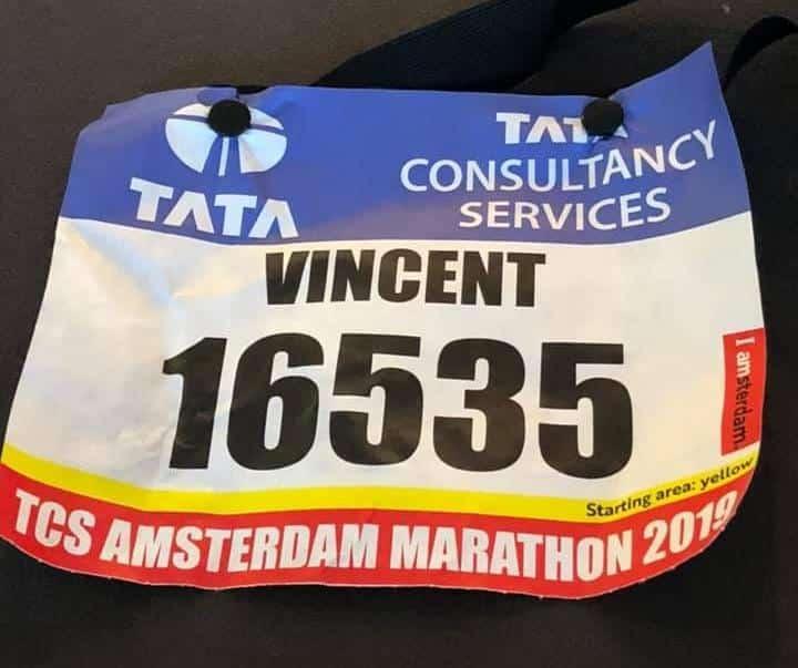 dossard marathon amsterdam