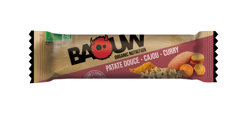 barre energétique baouw patate douce, cajou, curry