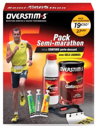 Emballage du pack semi-marathon overstims